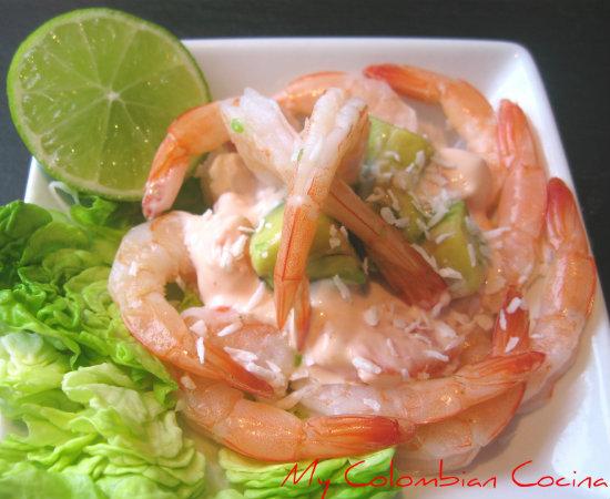 My colombian cocina para picar - Ensalada de langostinos ...