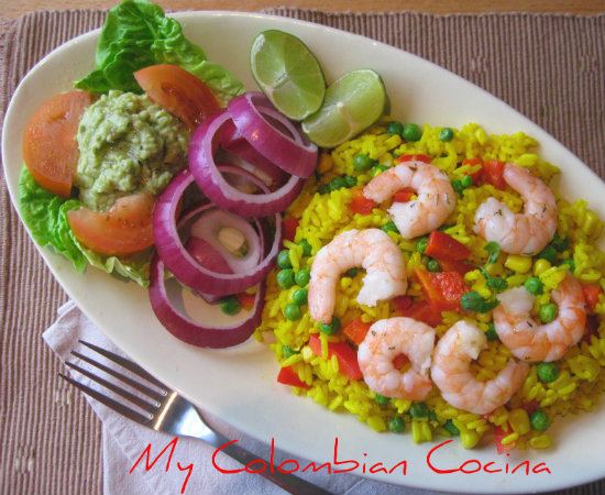 My Colombian Cocina Arroz Con Camarones